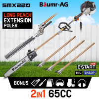 PRE-ORDER 65CC Long Reach Pole Chainsaw Hedge Trimmer Pruner Chain Saw Tree Multi Tool