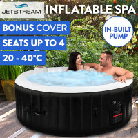 Jetstream Inflatable Spa Massage Portable Jacuzzi Hot Tub Outdoor Pool Bath Swim 4 Person