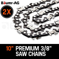 "PRE-ORDER Baumr-AG 10"" Premium 3/8"" Pitch Commercial Chainsaw Chain Replacement"