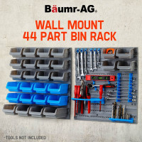 Baumr-AG 44 Part Storage Bin Rack Wall Mounted Tool Organiser Box Shelving