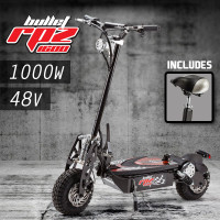 BULLET Black/Red 48V 1000W Turbo w/ LED Folding Electric Scooter For Adults - RPZ1600