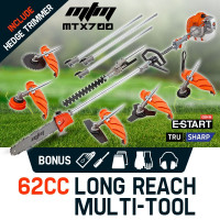 MTM Pole Chainsaw Brush Cutter Whipper Snipper Hedge Trimmer Saw Multi Tool 62CC