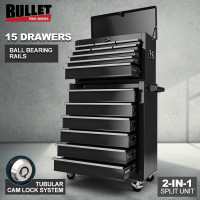 PRE-ORDER BULLET 15 Drawer Tool Box Storage Cabinet Chest Mechanic Toolbox Garage Trolley