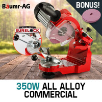 Baumr-AG 350W 3000RPM Commercial Electric Chainsaw Sharpener and Grinder- Bonus Grinding Wheel