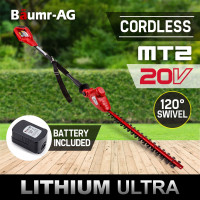 Baumr-AG 20V Cordless Pole Hedge Trimmer Lithium-Ion Battery Garden Tool