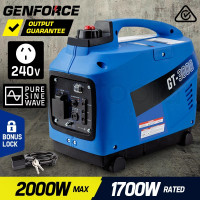 GENFORCE Inverter Generator 2000Watts Max 1700Watts Rated Portable Camping Petrol