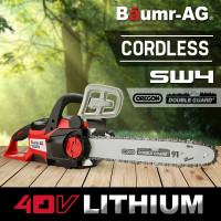 "Baumr-AG 40V OREGON 14"" Chain & Bar Cordless Electric Chainsaw- SW4"