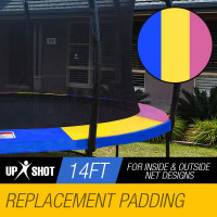 UP-SHOT 14ft Replacement Trampoline Pad Padding Springs Outdoor Safety Round