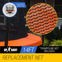 UP-SHOT 14ft Replacement Trampoline Inside Safety Net Spare Enclosure 8 Pole