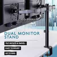 AVANTE Desk Monitor Stand 2 Arm - Dual Computer Holder Screen Riser Bracket