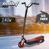 BULLET ZPS Kids Electric Scooter 140W Children Ride Toy Battery Boys Girls Red