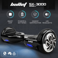 BULLET Hoverboard Scooter Self-Balancing Electric Hover Board Black Skateboard