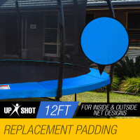 UP-SHOT 12ft Replacement Trampoline Padding - Pads Pad Outdoor Safety Round Blue
