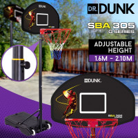 Dr. Dunk Black Height Adjustable Kids Basketball Hoop Stand