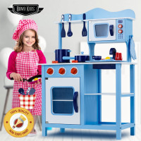 ROVO KIDS Wooden Kitchen Pretend Play Set Toy Children Cooking Home Cookware