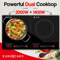 EuroChef Electric Induction Cooktop Portable Kitchen Ceramic Cooker Cooktop