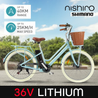 Nishiro Electric E Bike - e-bike Vintage Ladies Pedelec Bicycle Battery Ebike