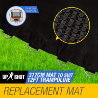 UP-SHOT 12ft Round 72 Spring Loops Inside Net Design Replacement Trampoline Mat