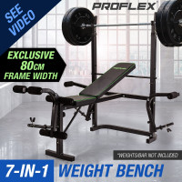 PRE-ORDER Proflex 7 in 1 Weight Bench Multi Station Home Gym- B300