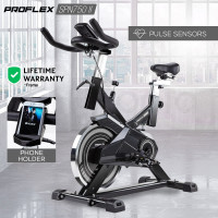 PROFLEX Commercial Spin Bike Flywheel Exercise Bike Grey - SPN750 II