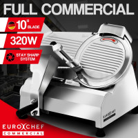 "EuroChef Commercial 10"" Meat Slicer Food Cutting Machine Electric Deli Shaver"