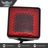 JAXSYN Novelty Tow-bar / Trailer Hitch Cover - Red Square Brake light 2