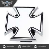 JAXSYN Novelty Tow-bar / Trailer Hitch Cover - Chrome Plated Iron Cross