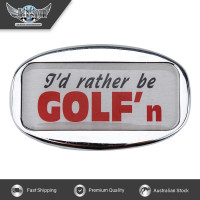 JAXSYN Novelty Towbar Trailer Hitch Cover Tow Bar - I'd rather be GOLF'n