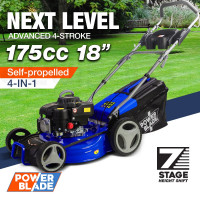 "POWERBLADE Petrol Lawn Mower 175cc 18"" 4 Stroke Self Propelled - VS550"