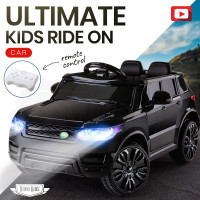 Rovo Kids Black 12V Remote Control Ultimate Electric Ride On Toy Cars