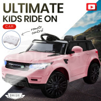PRE-ORDER ROVO KIDS Ride-On Car Electric Battery Childrens Toy Powered w/ Remote 12V Pink