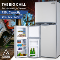 GECKO 125L Portable Upright Fridge Refrigerator 12V/24V/240V for Motorhome, Caravan
