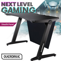 OVERDRIVE Gaming PC Desk Carbon Fiber Style Black