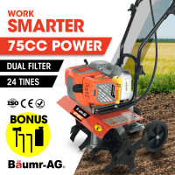 BAUMR-AG 75cc Mini Garden Soil Tiller Rototiller Cultivator - BT-667