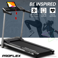PROFLEX Electric Compact Foldable Treadmill with Bluetooth Speakers, Digital Device Stand