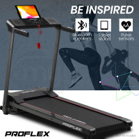 PROFLEX Electric Compact Foldable Treadmill with Bluetooth Speakers, Digital Device Stand-2