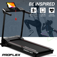 PRE-ORDER PROFLEX Electric Compact Foldable Treadmill with Bluetooth Speakers, Digital Device Stand-3