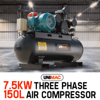 UNIMAC Electric Air Compressor 115PSI 150L 7.5kW 3 Phase