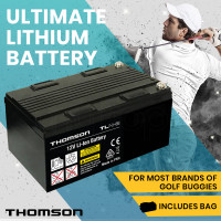 THOMSON 12V 24Ah Lithium Battery for Electric Golf Buggy, Mobility Scooter