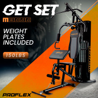 Proflex Bench Press Preacher Cable Multi Station Home Gym- M8000