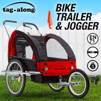 Tag-along Kids Bike Trailer Child Bicycle Pram Stroller Children Jogger Red