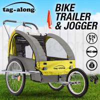 Tag-along Kids Bike Trailer Bicycle Pram Stroller Children Jogger Yellow
