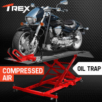 PRE-ORDER T-REX Motorcycle Lift Table Compressed Air Bike Stand Jack Hoist Motorbike