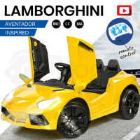 ROVO KIDS Ride-On Car LAMBORGHINI Inspired - Electric Battery Remote Yellow
