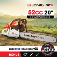"PRE-ORDER Baumr-AG 52cc 20"" Bar E-Start Commercial Petrol Chainsaw SX52"