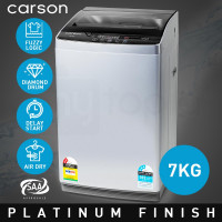 CARSON Washing Machine 7kg Platinum Automatic Top Load Home Dry Wash