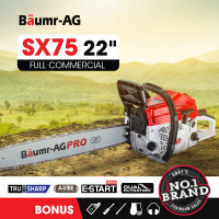 "Baumr-AG 22"" E-Start Commercial Petrol Chainsaw Pro Series - SX75"