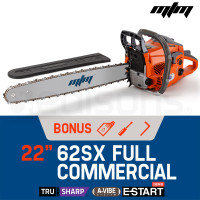 "MTM 22"" Bar E-Start Commercial Petrol Chainsaw Pruner- 62SX"