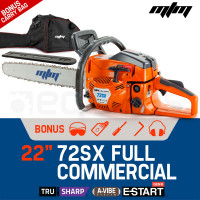"MTM 22"" Bar E-Start Sytem Commercial Petrol Chainsaw- 72SX"