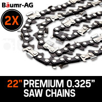 """2 x 22"""" Baumr-AG Chainsaw Chain 22 Inch Bar Replacement 0.325"""" 0.058"""" 86DL"""